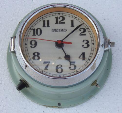 Vintage Blue Slave Maritime Wall Clock Nautical Ship Seiko Quartz Made in Japan