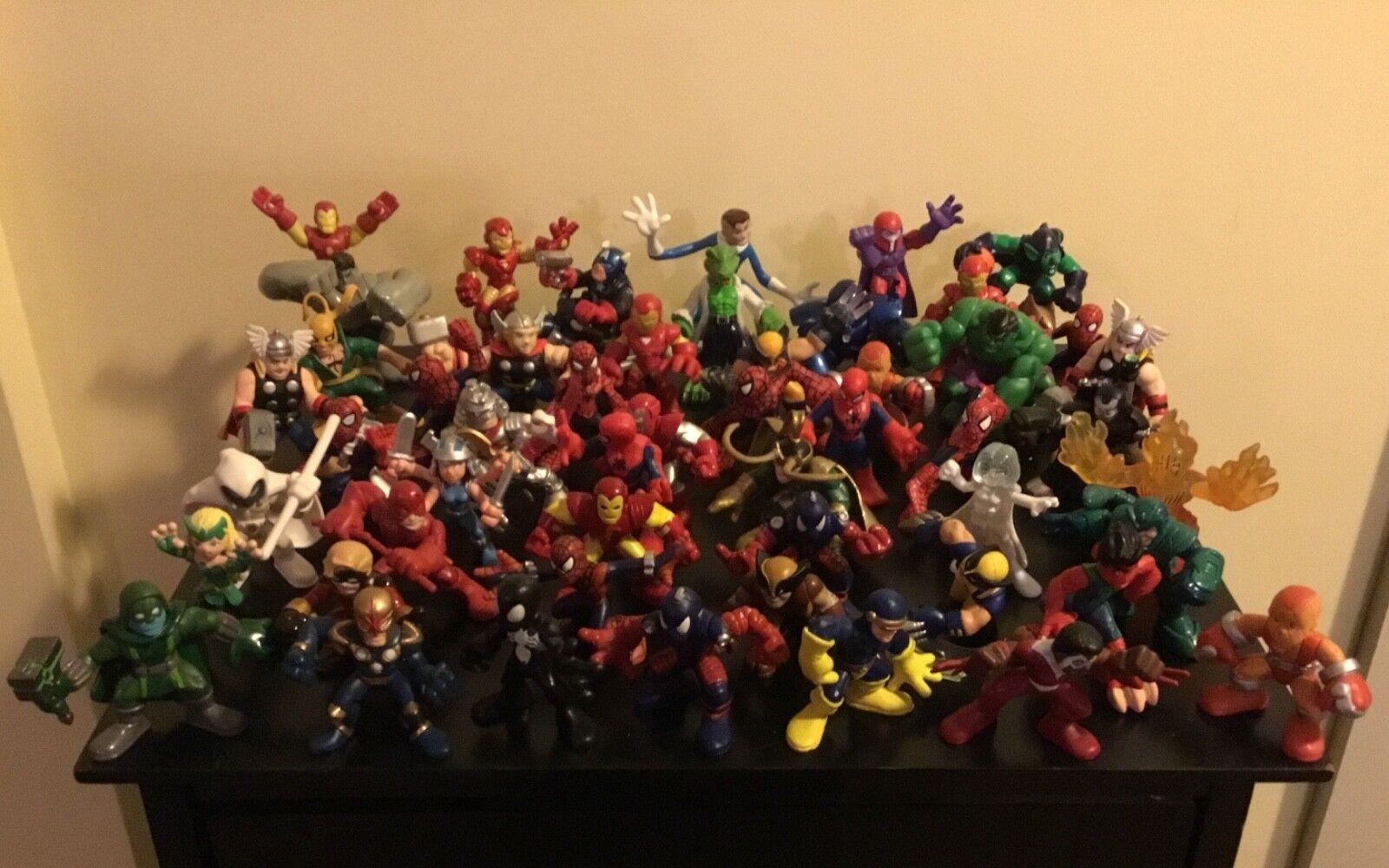 Lot of 51 Marvel Super  Hero Squad azione cifras  connotazione di lusso low-key