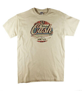 Johnny Cash 1955 Original Rock n Roll Country Blues Natural T-Shirt Big Sizes