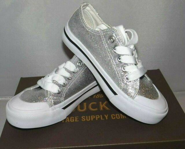 MAISY Silver Glitter 12M Gym Shoes