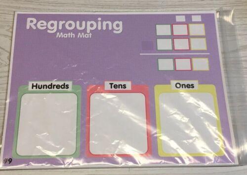 Dry Erase #09 Laminated Math Work Mats Classroom Set of 10