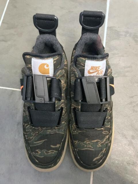Nike x Carhartt WIP Air Force 1 Utility Low Trainers Camo, Tiger Laurel, Orange