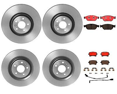 Brembo Front Rear Full Brake Kit Disc Rotors Ceramic Pads For Audi A6 A7 Quattro