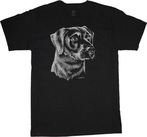 Labrador Retriever T-shirt Dog Breed Black Lab Face Tee Men/'s Dog Person Gift