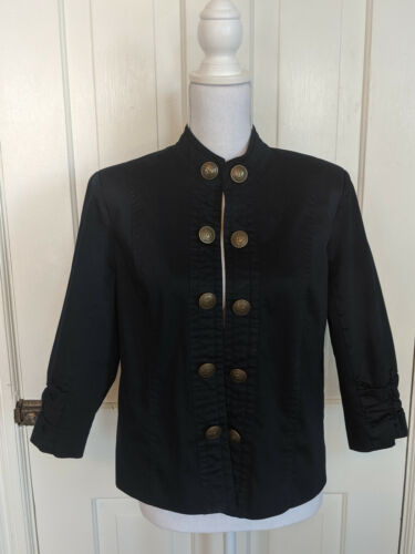 Christopher & Banks Womens Navy Blue Military Jack