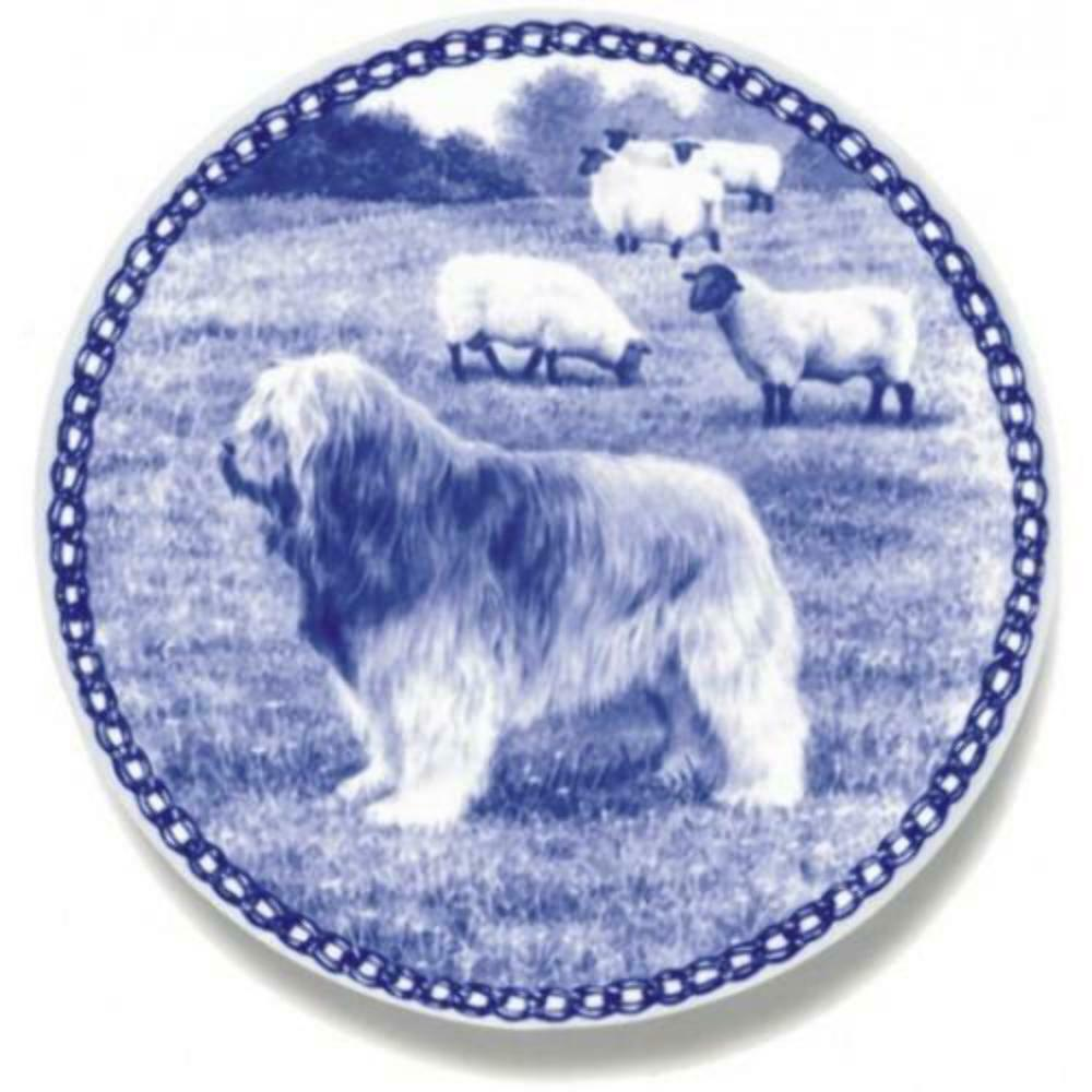 Catalan Sheepdog - Dog Plate made in Denmark from the finest European Porcelain
