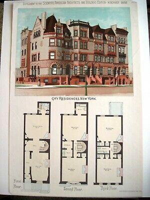 """Heimwerker Baupläne Ausdrucksvoll 1892 Ergänzung Zu Den """" Scientific American Architects Mit New York Mansion Fabriken Und Minen"""