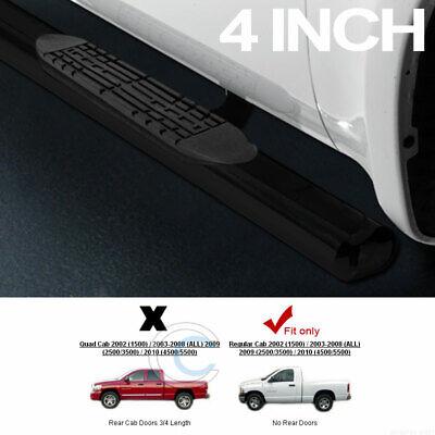 """Chrome Oval 5/"""" Side Step Nerf Bar For 2002-2008 Dodge Ram 1500 Quad Crew Cab"""