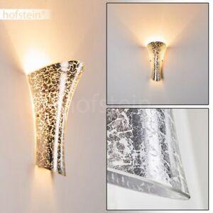 moderne Wand Leuchten silberfarben Wohn Schlaf Zimmer Lampe Flur Dielen Strahler