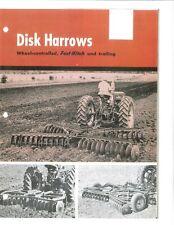 Ih Mccormick Fast Hitch Disk Harrows Brochure Farmall Tractors Wheel Carry
