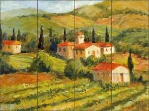 Ceramic-Tile-Mural-Backsplash-Margosian-Tuscan-Villa-Landscape-Art-JM012