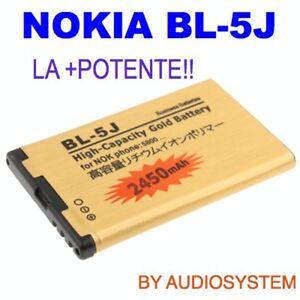 BATTERIA-BL-5J-DA-2450Mah-PER-NOKIA-5800-5230-5228-X6-N900-POTENZIATA-MAGGIORATA