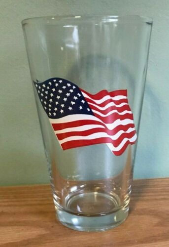 4th of July American Flag Glasses