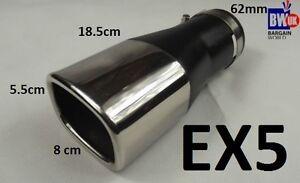STEEL-SQUARE-EXHAUST-TRIM-TIP-MUFFLER-CHROME-TAIL-BIG-BORE-60MM-UNIVERSAL-EX5