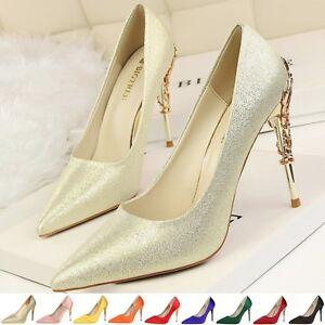 Women-039-s-Ladies-Pointy-Toe-high-heels-Stitello-Wedding-Party-Court-Shoes-Pumps
