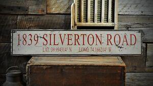 Rustic Hand Made Vintage Wooden ENS1000486 Custom Location /& Elevation Sign