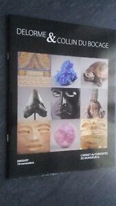 Catálogo De Venta Subasta Delorme y Collin Bocage Minerales-Asia-África 11.2010