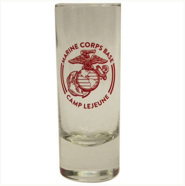 Vanguard MARINE CORPS SHOT GLASS CAMP LEJEUNE 2OZ