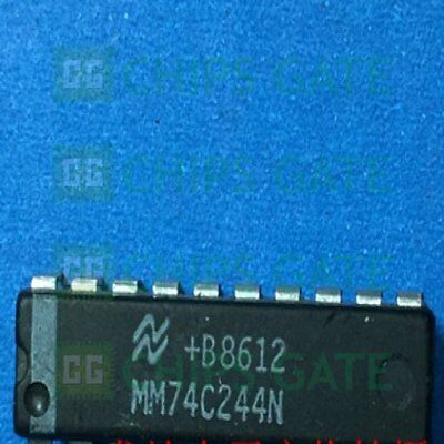 4PCS DM74LS244N IC BUFF//DVR//RCVR 3ST DUAL 20DIP Fairchild