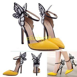 2367ab56f4736c Butterfly Angel Wings High Heels Women Vampire Ladies Party Wedding ...