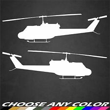 2 US Army UH-1 Huey Helicopter Stickers Side View Military Graphics Decal Car