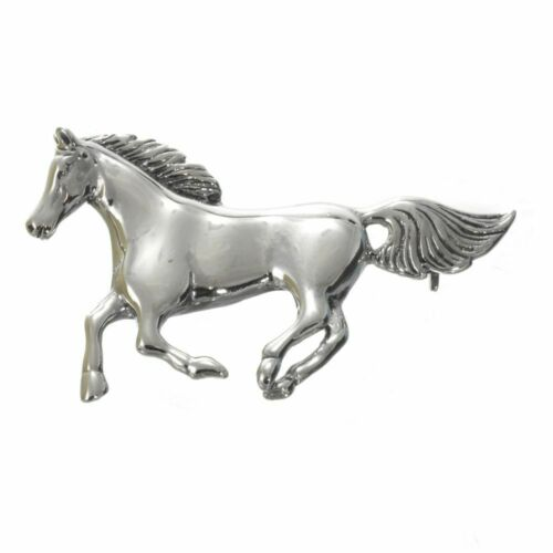 ... Large Statement Running Horse Design Brooch SALE Sterling Silver Jewellery