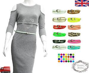 Ladies-Women-Fashion-Skinny-Thin-PU-Leather-Waist-Belt-UK-Seller-Fast-Shipping