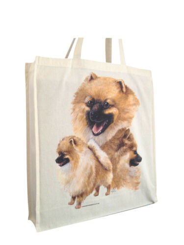 Cotton Shopping Bag with Gusset /& Long Handles Perfect Gift Pomeranian b