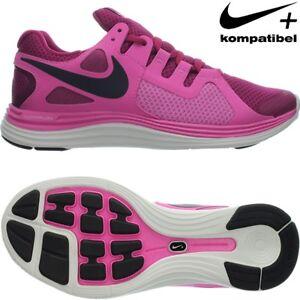 Nike LUNARFLASH+ pink weiß Damen Laufschuhe Fitness Running