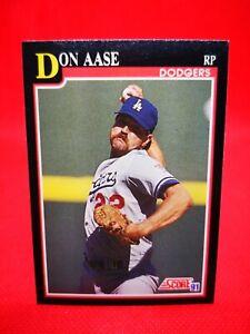 Score 1991 carte card Baseball MLB US NM+/M Los Angeles Dodgers #289 Don Aase
