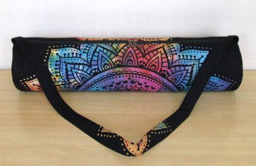 Sporttasch Mandala große Carrier indische Yoga Mat Neu Vintage Wurf Strandtasche