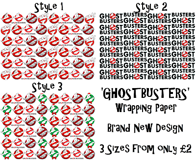 NEW /'GHOSTBUSTERS/' Wrapping Paper A1//A2//A3 Film Movie 3 Styles to choose from
