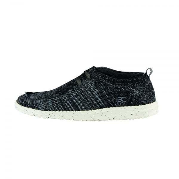 Hey Dude Mens Wally Knit Dark Grey Casual Beach shoes