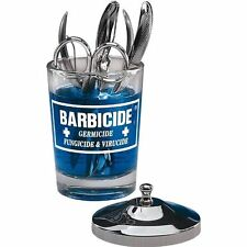 Barbicide Small Manicure Glass Jar 57ml w Stainless Steel Lid - Salon Beautician