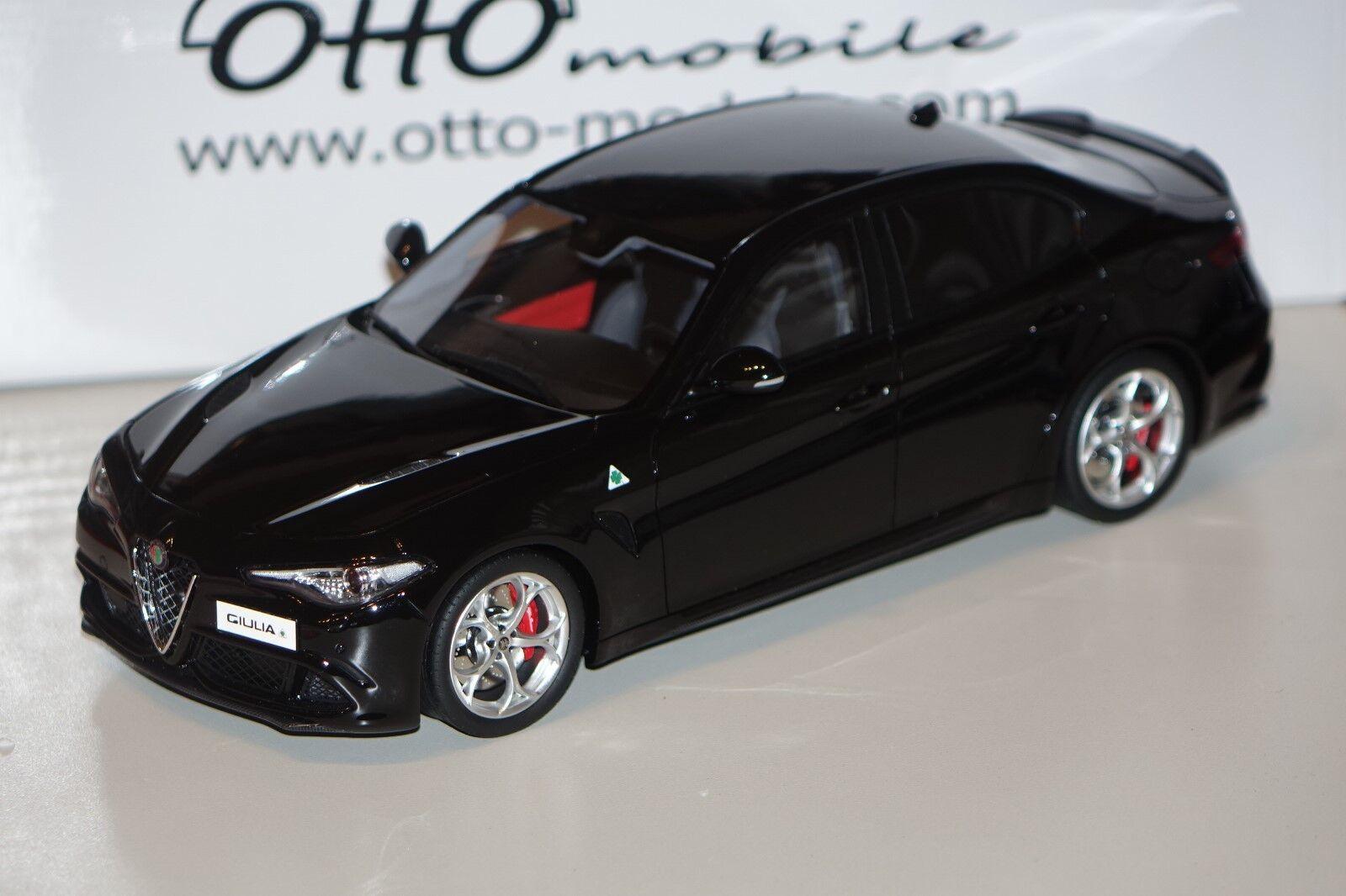 Alfa Romeo Giulia Quadrifoglio noir 1 18 resin Ottomobile ot793 NOUVEAU & NEUF dans sa boîte