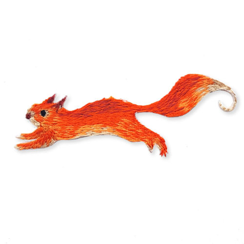Red Squirrel Iron//Sew on Appliques Embroidered Patches Motifs Animal Craft