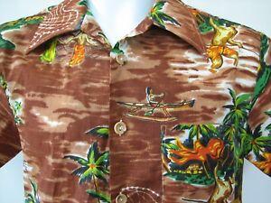 fbcdc964e7678 Image is loading JC-Penney-1970s-polyester-disco-lounge-Hawaiian-shirt-