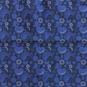 Cachemire-Bleu-Satin-Floral-Ascot-Cravate-Poche-Carre-Combo-Melange-de-Coton