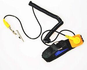 ESD-Schutz-Antistatik-Armband-Handgelenk-Erdungsband-Antistatic-gelb-schwarz