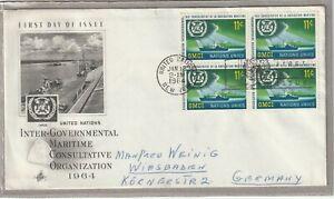 Ersttagsbrief FDC USA Inter-Governmental Maritime Consultative Organization 1964