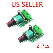 2 Pcs Low Voltage Dc 18v 3v 5v 6v 12v 2a Motor Speed Controller Pwm