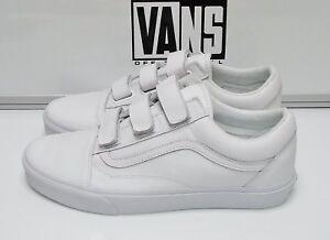 67b4ee75b18b9a Vans Old Skool V Mono Leather True White VN0A3D29OP0 Men s Size  13 ...