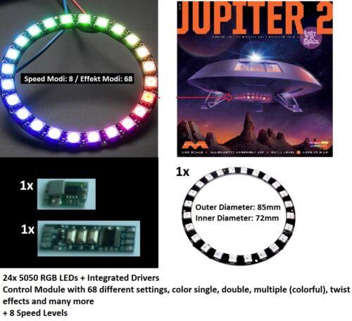 """24bit Light Chaser Lauflicht Kit Jupiter 2 II Moebius Lost in Space 18/"""" Moe 913"""