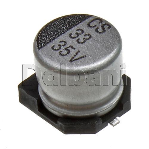 25pcs New Aluminum Electrolytic SMD Capacitor 35V 33mF 6.3mm 5.4mm