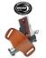 1911 4.25 inch barrel Ambidextrous OWB Belt Slide Leather Holster Brown