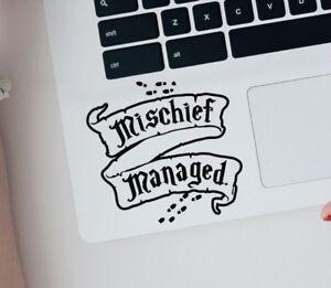 Harry Potter Mischief Managed Macbook Laptop Car Wall Vinyl Sticker 198