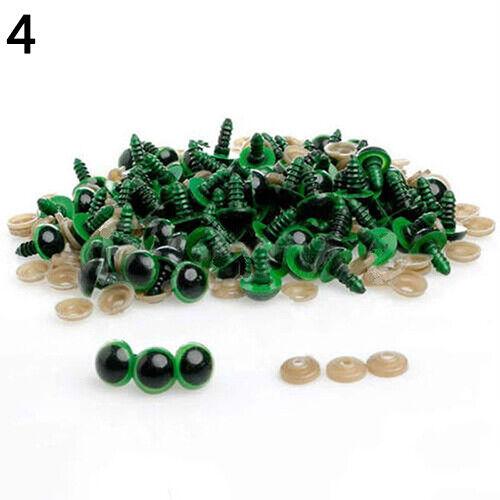 100 piezas de ojos de seguridad de plástico para muñeca de Oso de Peluche Animal marioneta artesanía Hazlo tú mismo opulento