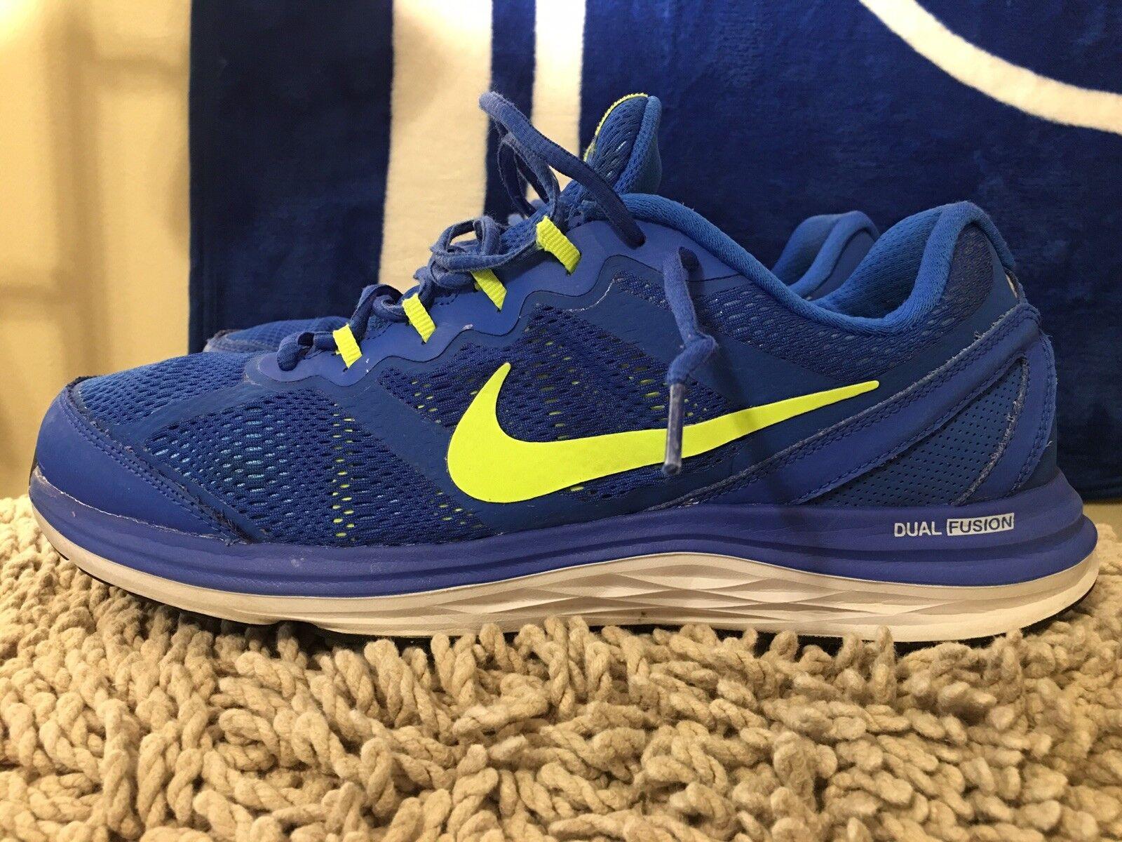 NIKE DUAL FUSION RUN 3, 653596-400, Hyper Cobalt, Men's Running shoes, Size 11.5