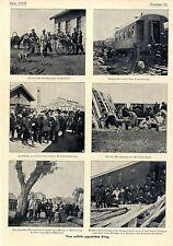 Vom russisch-japanischer Krieg Gräfin Bobrinskaja Major v.Tettau Sanitätszug1904