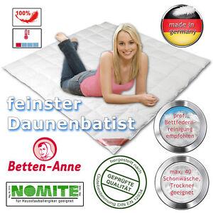 Sommer-Daunend<wbr/>ecke 200x200 100% Daunen - feinster Daunenbatist - extra leicht